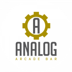 Analog arcade bar logo