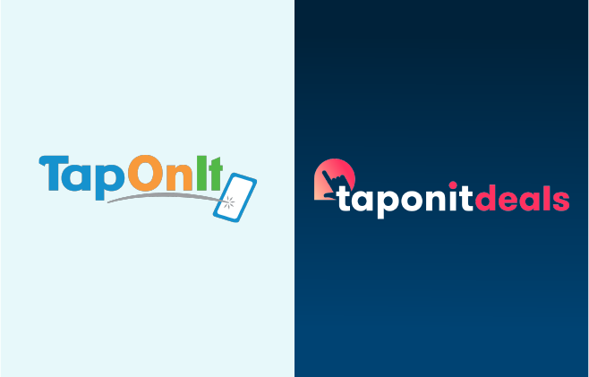 Old and New TapOnIt Logo