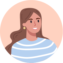 Light brown hair girl icon