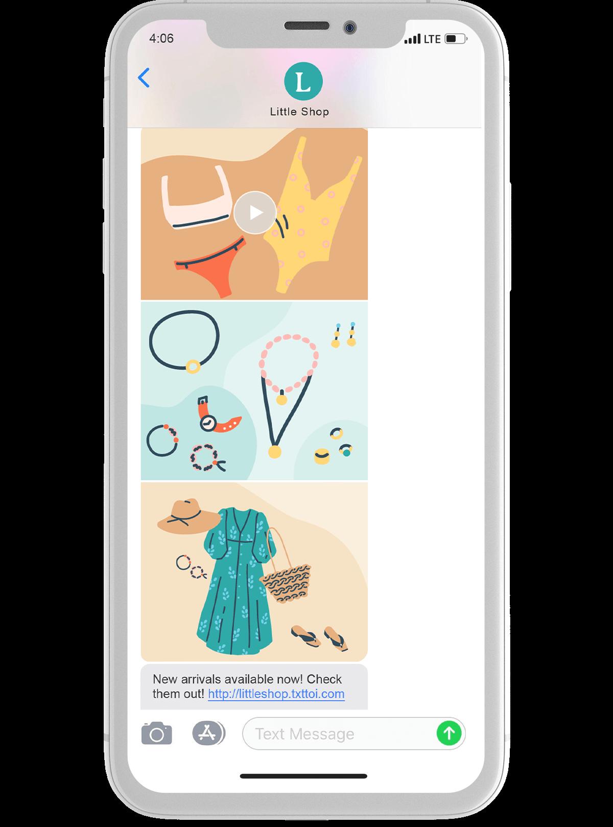 Ecommerce text thread marketing phone