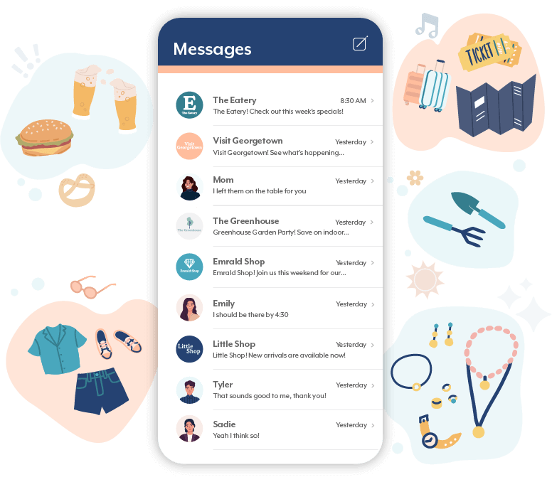 Messages with industries we've worked with