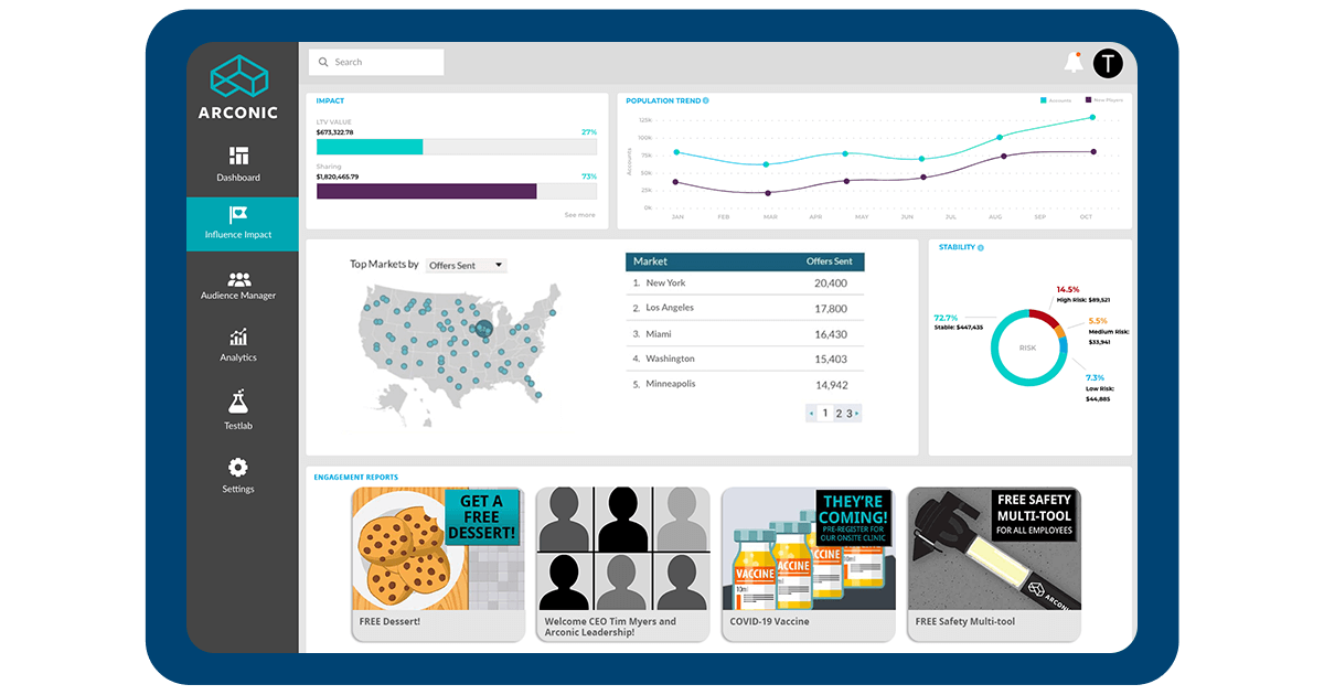 Arconic Case Study Marketplace Screen